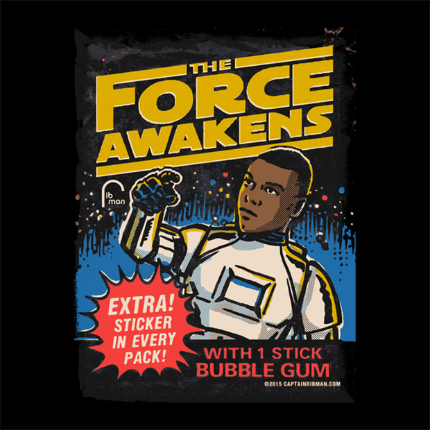 Star Wars The Force Awakens Wax Pack T-Shirts