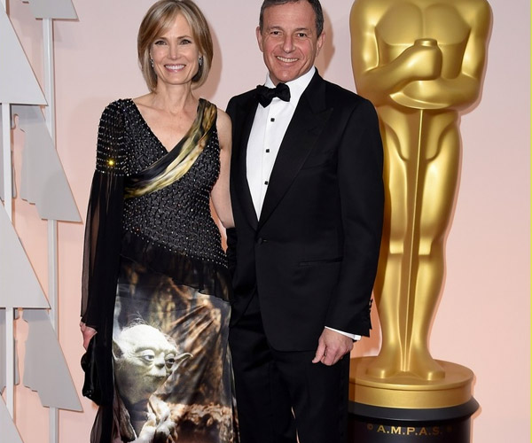Disney CEO's Wife Wore a Yoda Dress to the Oscars