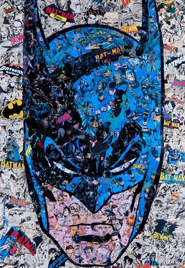 This Batman Art Is Made from Lots of Batmans