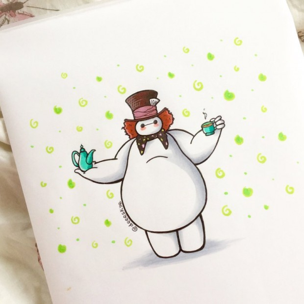 Baymax Dressed Up As Other Disney Characters Mightymega