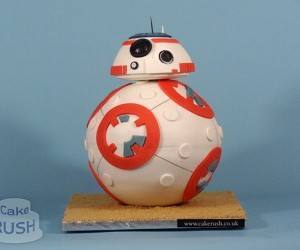 Star Wars The Force Awakens BB-8 Cake