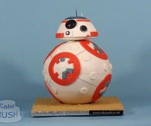 Star Wars The Force Awakens BB-8 Cake