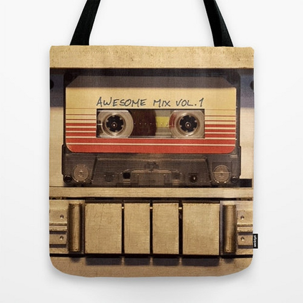 Guardians of the Galaxy Awesome Mix Vol 1 Tote Bag