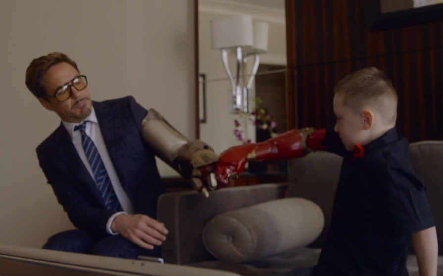 Iron Man Delivers Kid's Robotic Arm