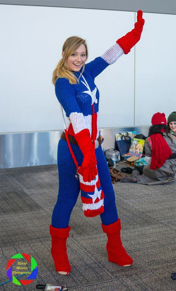 Knit Captain America Cosplay