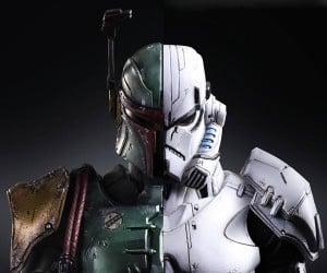 Square Enix Boba Fett & Stormtrooper Action Figures
