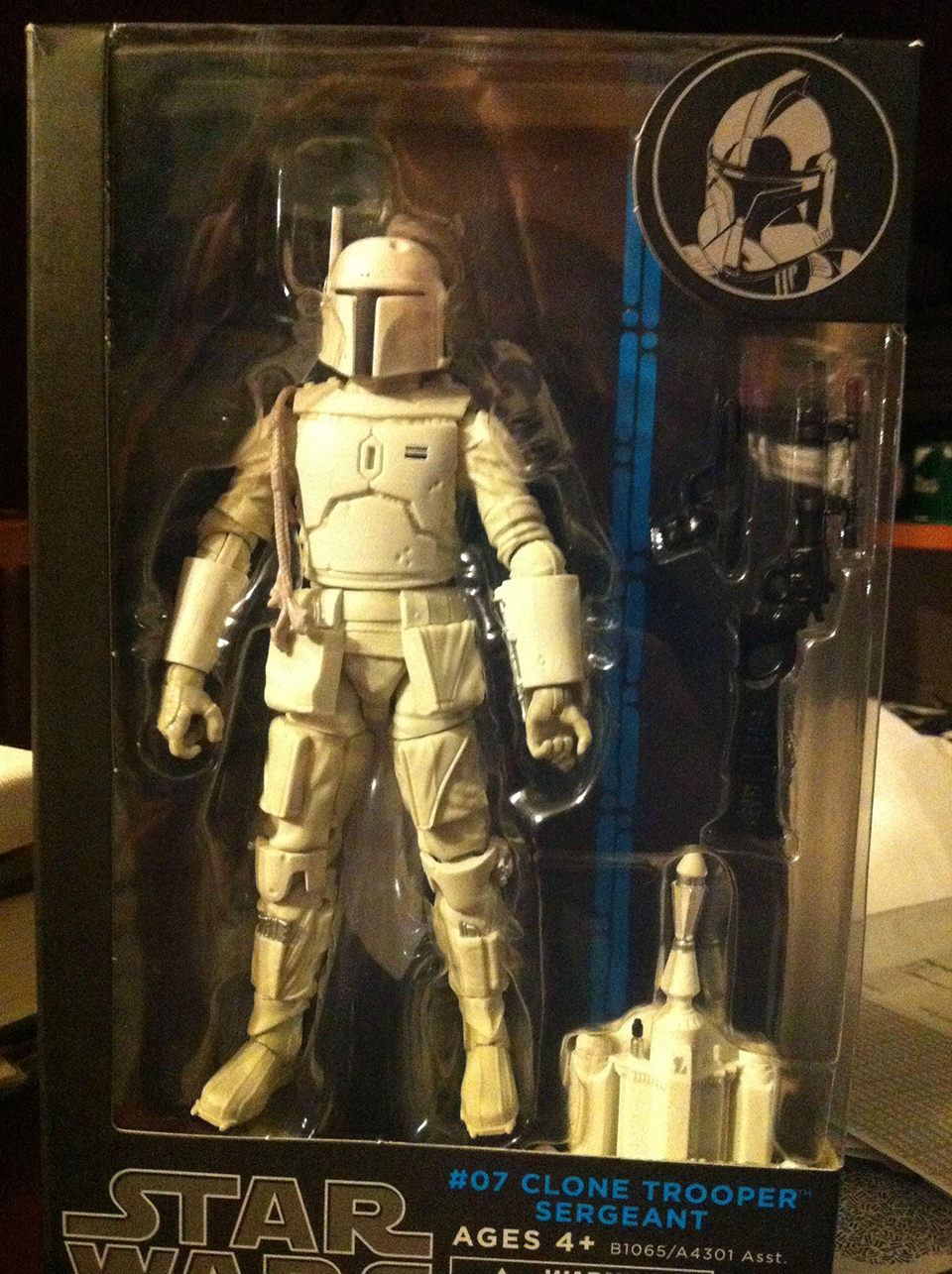 White Boba Fett Action Figure Packaged as Clone Trooper