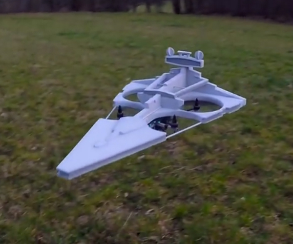 Remote-controlled Imperial Star Destroyer Quadcopter
