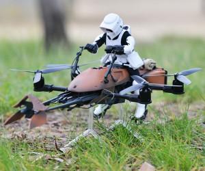 Custom Star Wars Speeder Bike Quadcopter