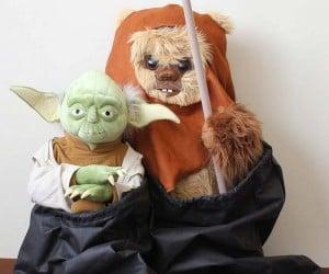 Life Size Yoda and Ewok Plush Toys