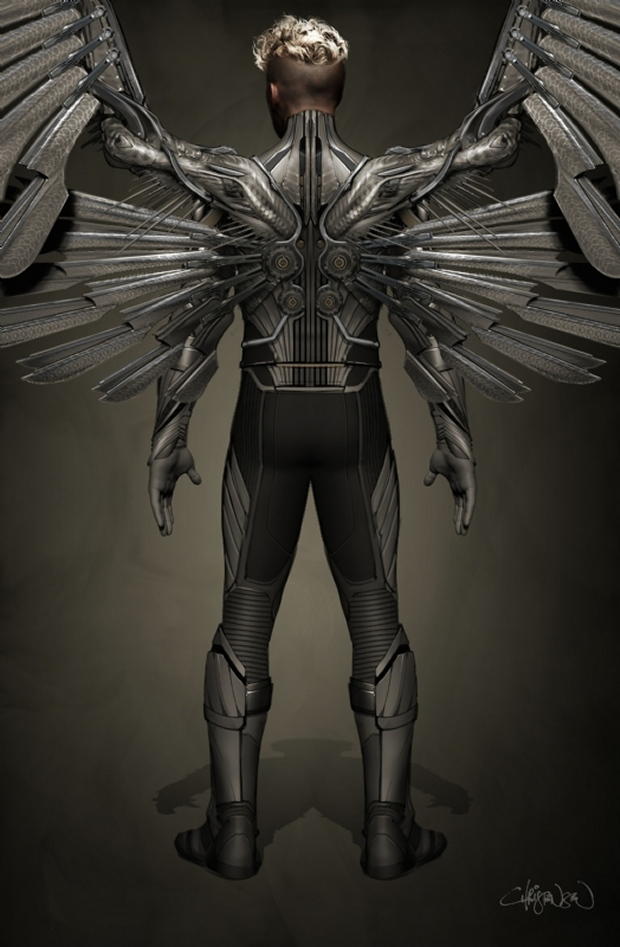 Angel Concept Art For X-Men: Apocalypse