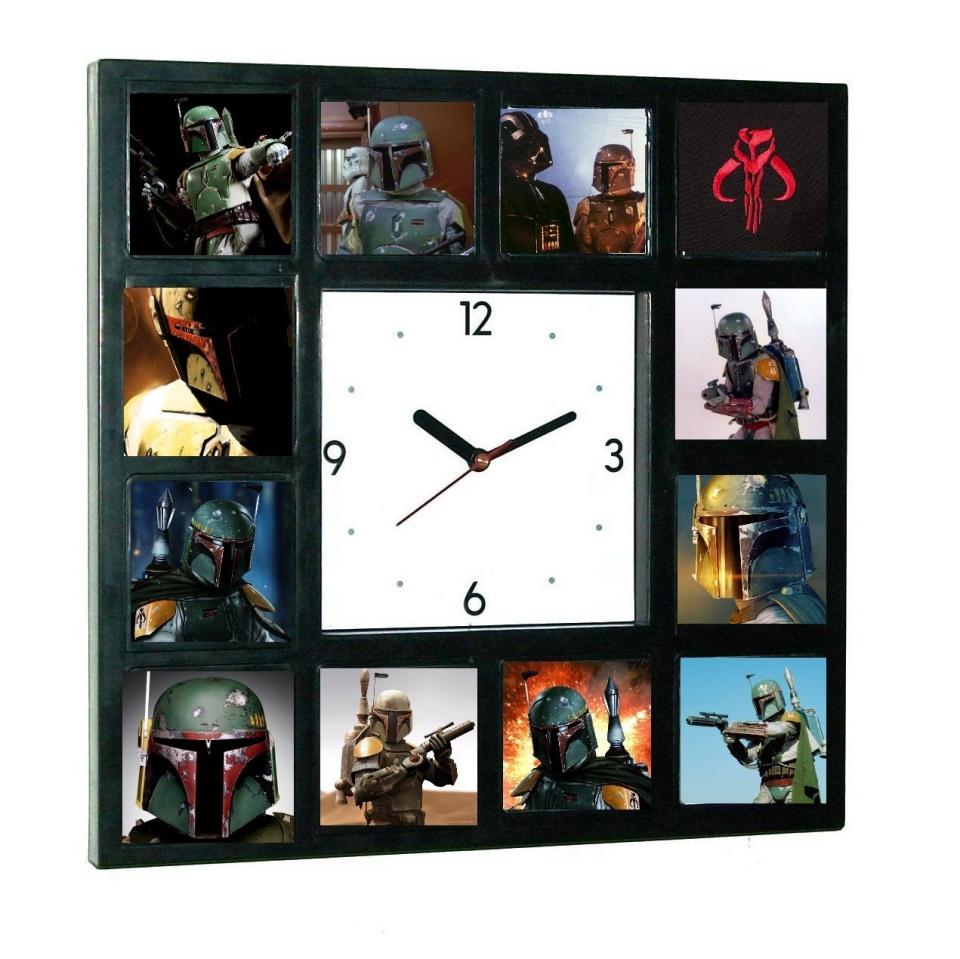 Star Wars Faces of Boba Fett Clock