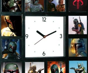 Star Wars Faces of Boba Fett Clock