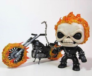 Custom Funko Ghost Rider & Motorcycle