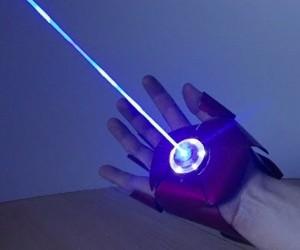 Guy Makes Laser-firing Iron Man Glove