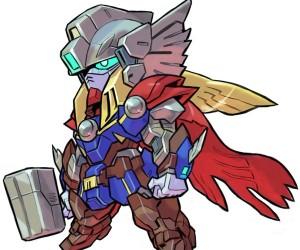 Marvel x Gundam Mashup Fan Art