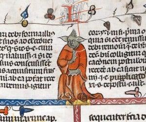 Yoda Found in 14th Century Illuminated Manuscript