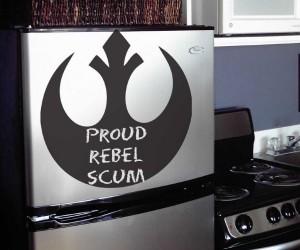 Rebel Symbol Stick-on Chalkboard