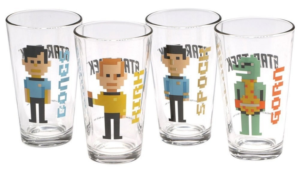 Pixelated Star Trek Glasses