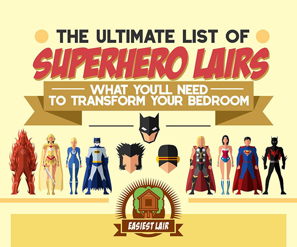 Infographic: The Ultimate List of Superhero Lairs