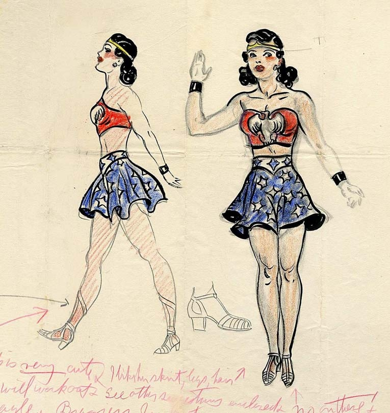 Rare First Sketch of DC's Wonder Woman Heading to Auction