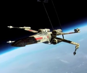 This X-Wing Really Went to Space