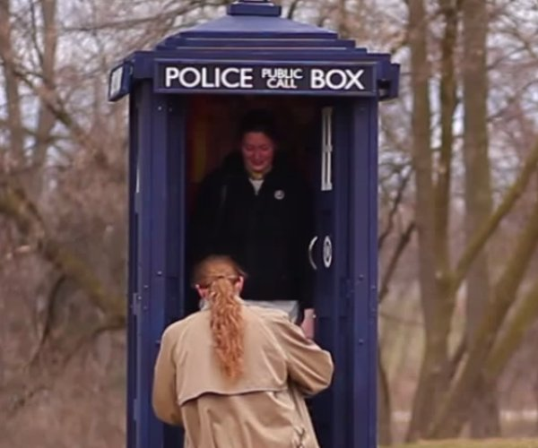 Guy Builds a TARDIS to Propose to His Girlfriend