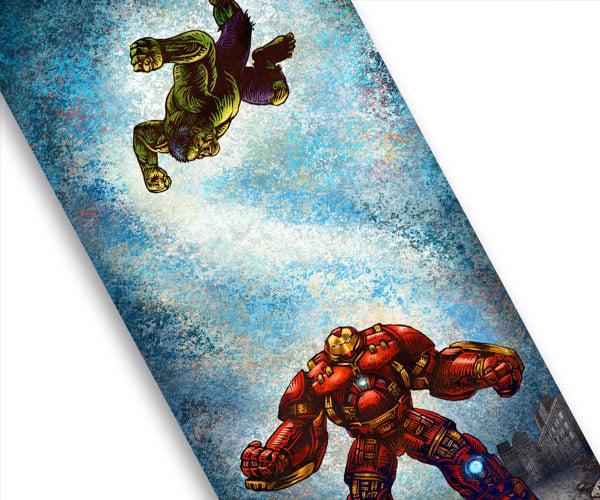 Hulk vs. Hulkbuster Print is Truly Smashing