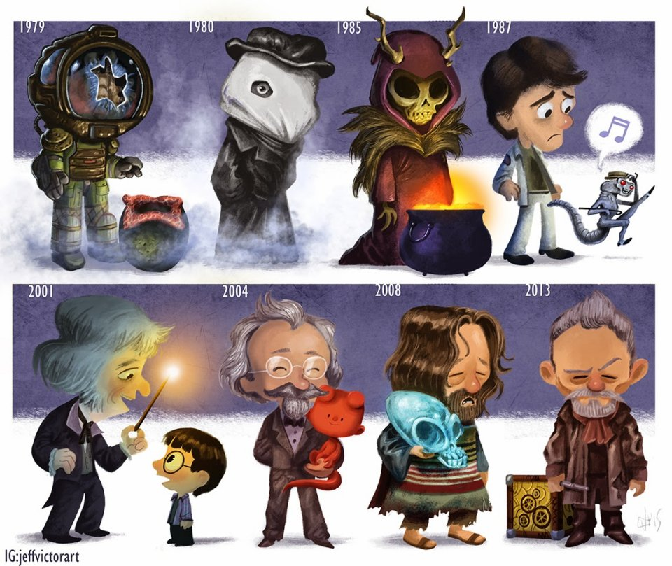 The Cartoon Evolution of John Hurt