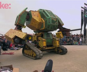 MegaBot Prototype Mech Armed with Paintball Cannon