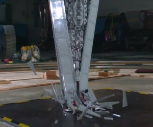 LEGO Super Star Destroyer Shattered at 1000fps