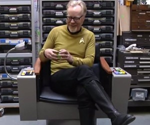 Adam Savage Builds Perfect Captain Kirk's Chair