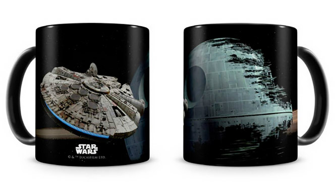 Star Wars Millennium Falcon & Death Star Mug