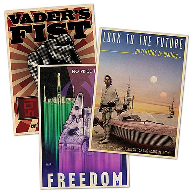 Star Wars Propaganda Postcards