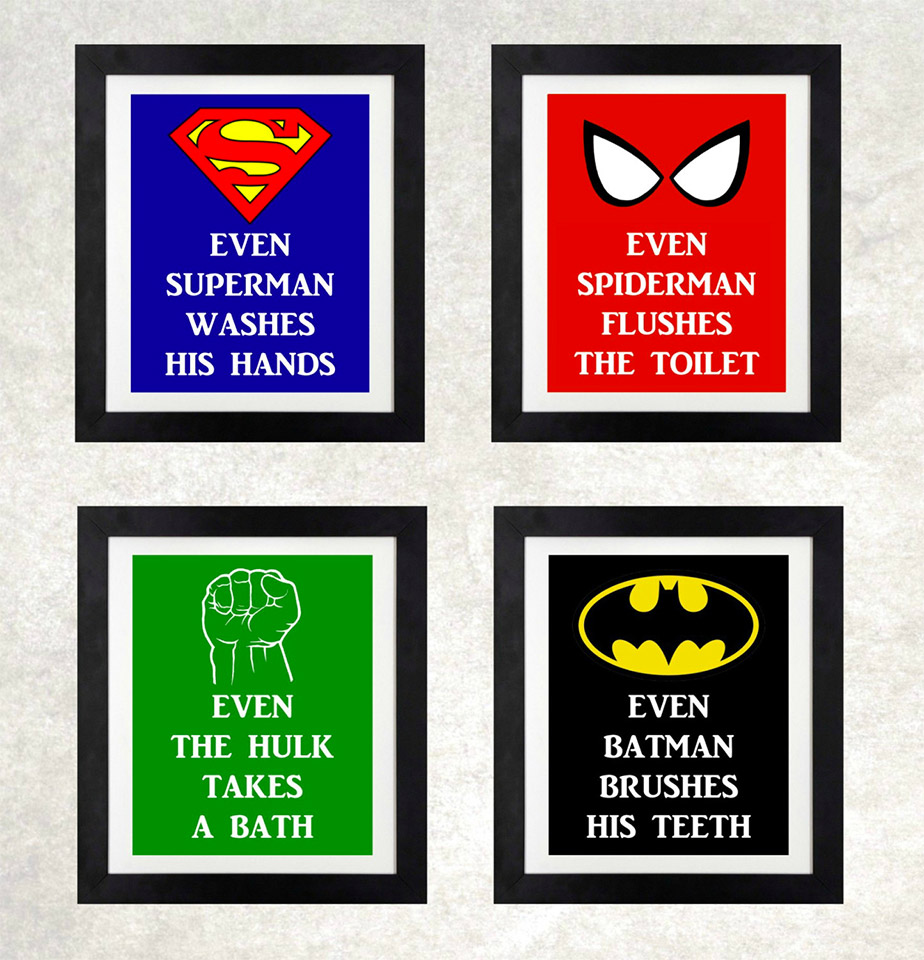 Superhero Bathroom Sets