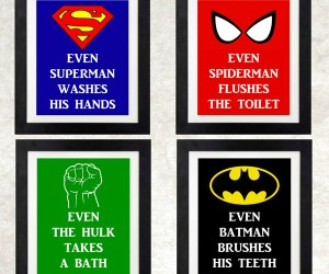 Superheroes Help Kids Mind Their Bathroom Manners