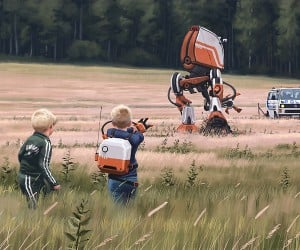 Swedish Sci-Fi Paintings Mix Us and Them