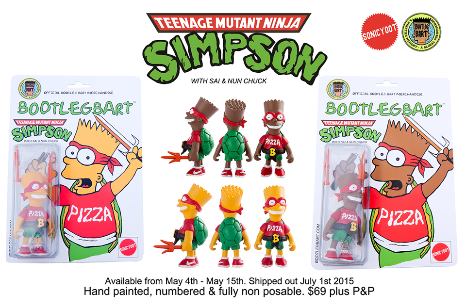 TMNT x The Simpsons Bootleg Bart Action Figure