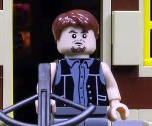 Daryl Kicks Zombie Butt in LEGO Short Film