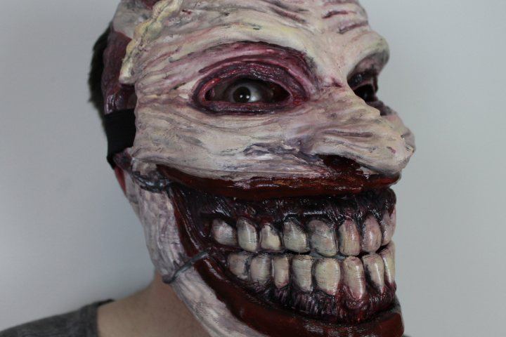 Creepy 3D Printed Joker Mask