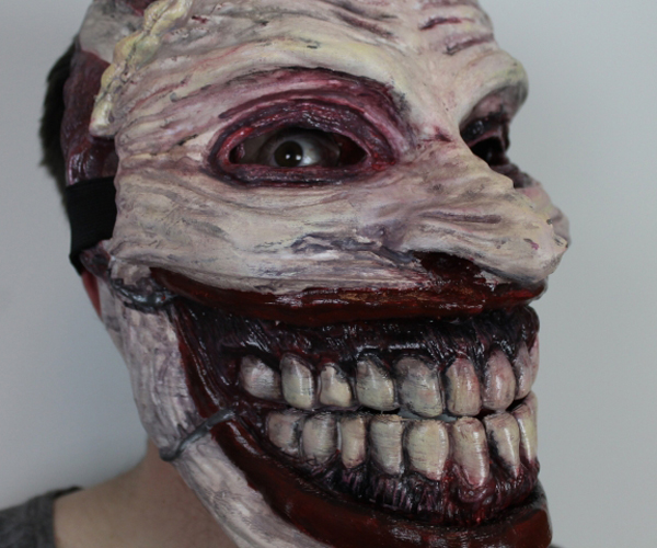 Creepy 3D Printed Joker Mask