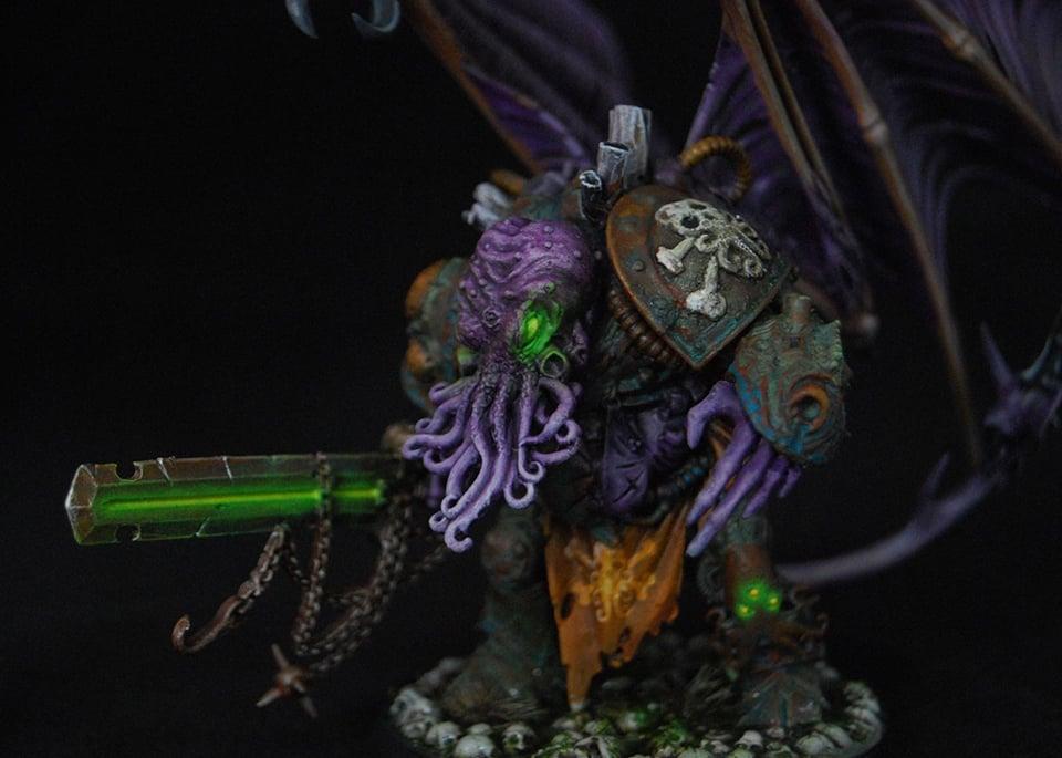 Custom Cthulhu-inspired Warhammer 40K Figures