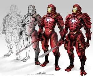 Iron Man Samurai Fan Art Time-Lapse