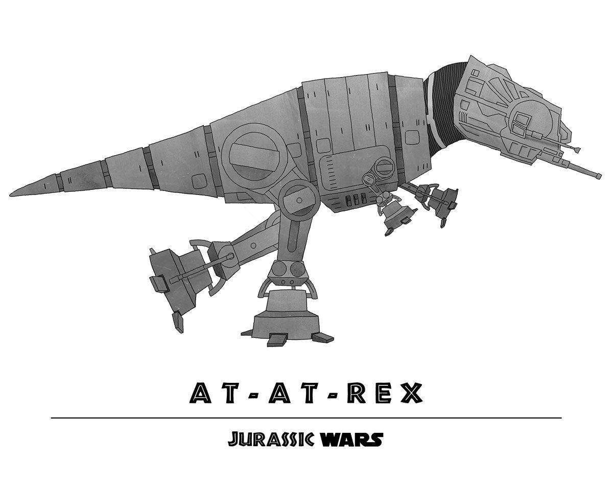 Star Wars + Jurassic Park = Jurassic Wars