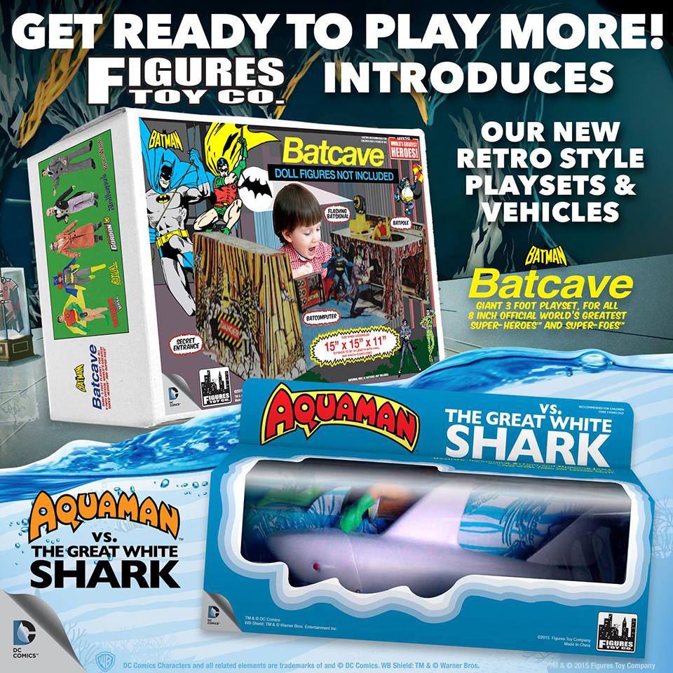 FTC Mego Batcave & Aquaman Playsets