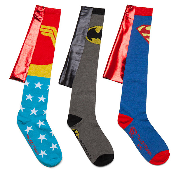 Put Your Best Foot Forward with Caped Superhero Socks