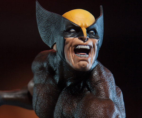 Sideshow Wolverine Brown Costume Statue