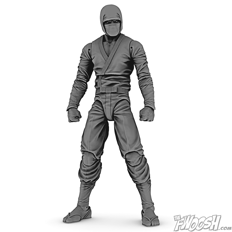 The Fwoosh Articulated Icons Ninja Action Figure