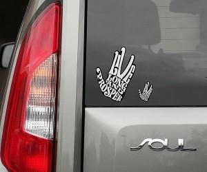 Live Long & Prosper Spock Car Decals