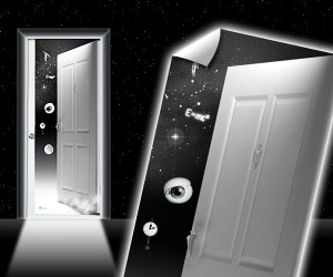 The Twilight Zone Door Decal